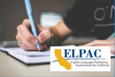 Student taking ELPAC English test