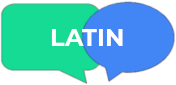 "speech bubbles with the word ""Latin"""