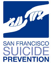 Two hands reaching for each other (SF Suicide Prevention Logo)