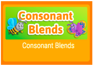 Consonant Blends text in the center with bee and butterfly clipart