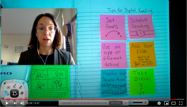 "Ms. Castro's ""Digital Reading Tips"" Video thumbnail"