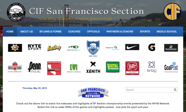 Cifsf.org district sports website