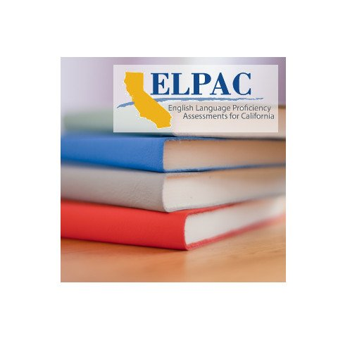 Books with ELPAC English Test logo