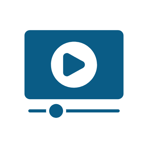 Icon of streaming video