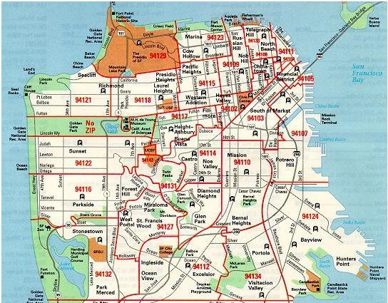 sf map by zip code