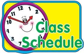 clock with words class schedule