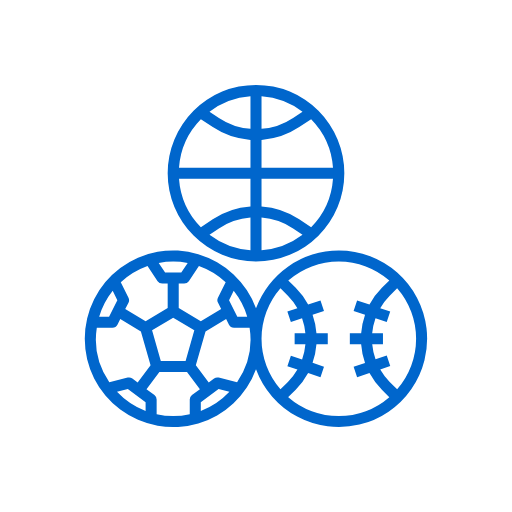 icon of blue sport balls